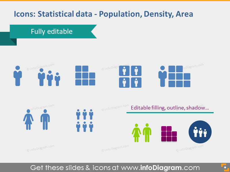 area population density statisitical data pptx cliparts