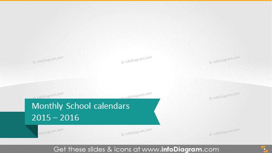 Monthly school calendars 2015 2016