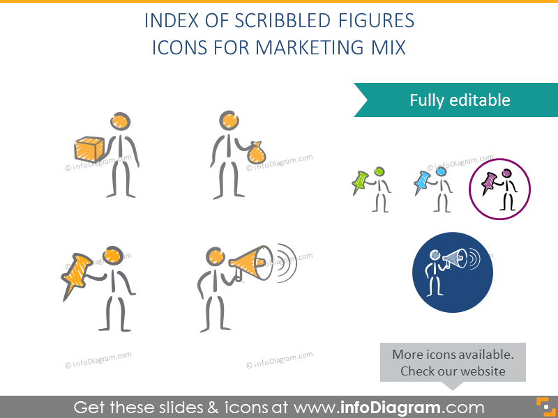 Scribbled hand drawn figures index