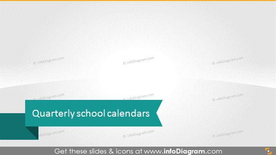 Quarterly school calendars
