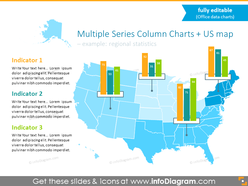 Example with using editable column bar charts