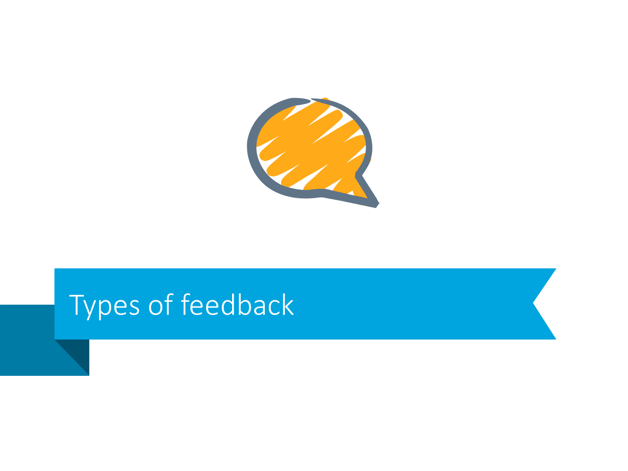 Types feedback communication slide ribbon powerpoint