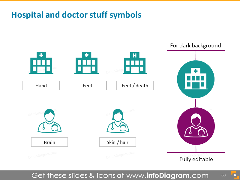 Hospital doctor staff symbol ppt icon