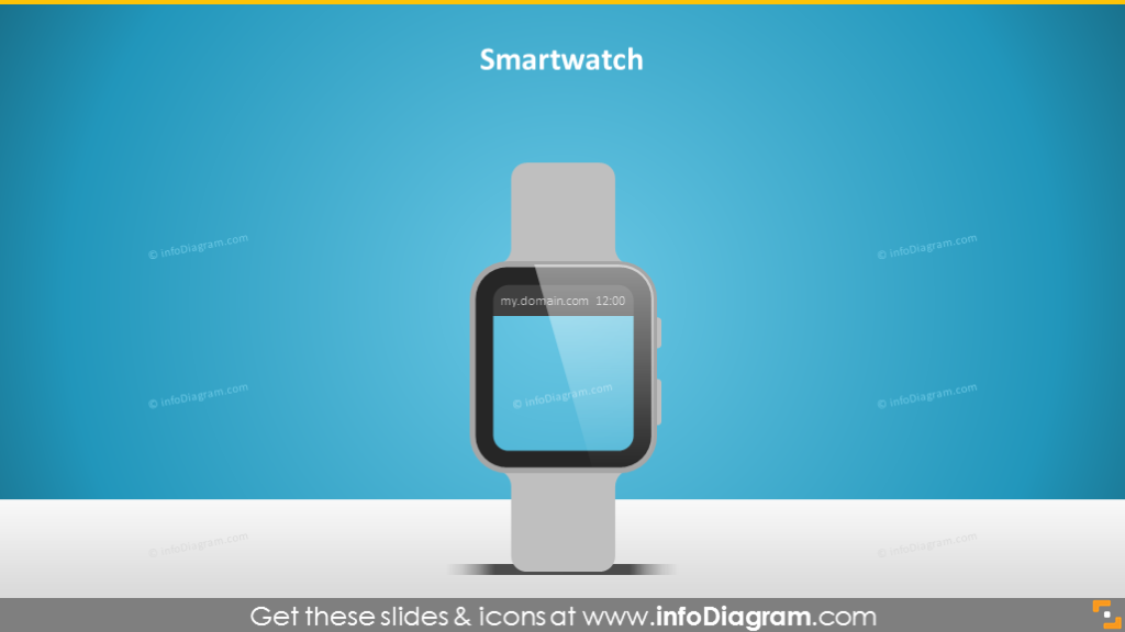 smartwatch screen iwatch display image powerpoint wireframe
