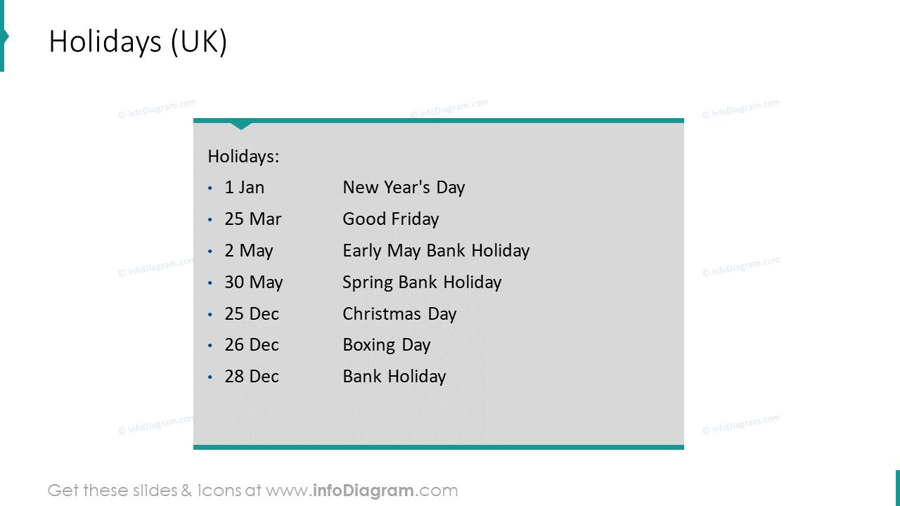 2020 Holidays EU Calendars
