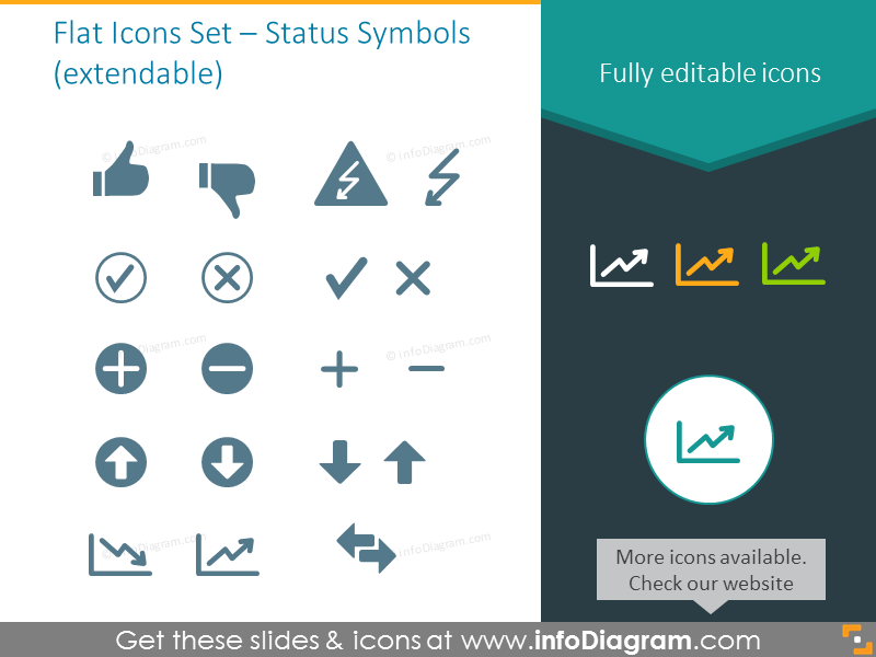 Status Symbols - Index of Flat Icons