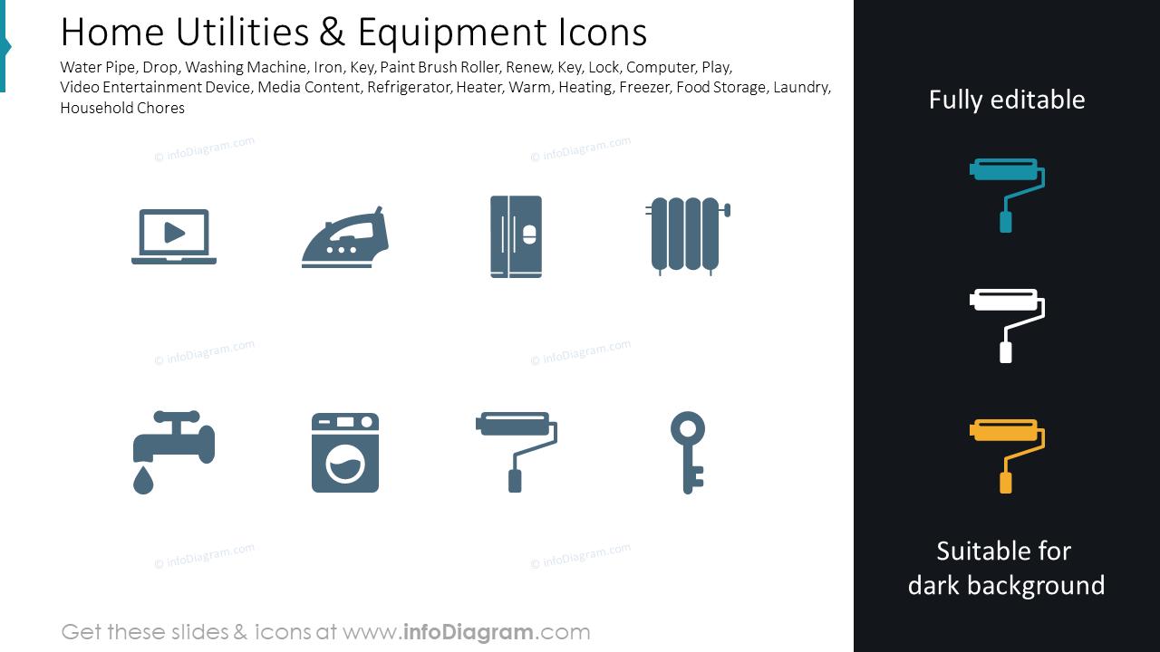 Home Utilities & Equipment Icons