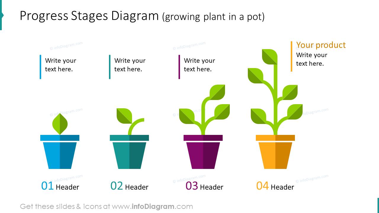 Progress stages diagram