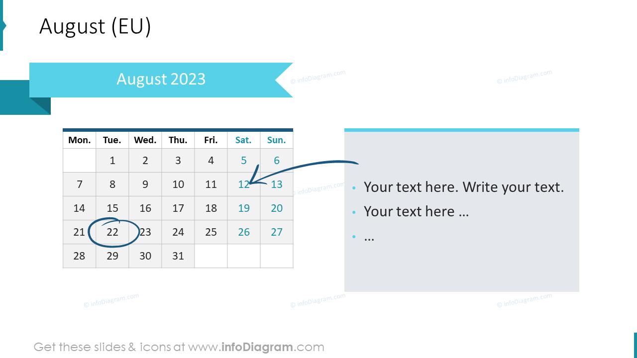 September 2022 EU Calendars