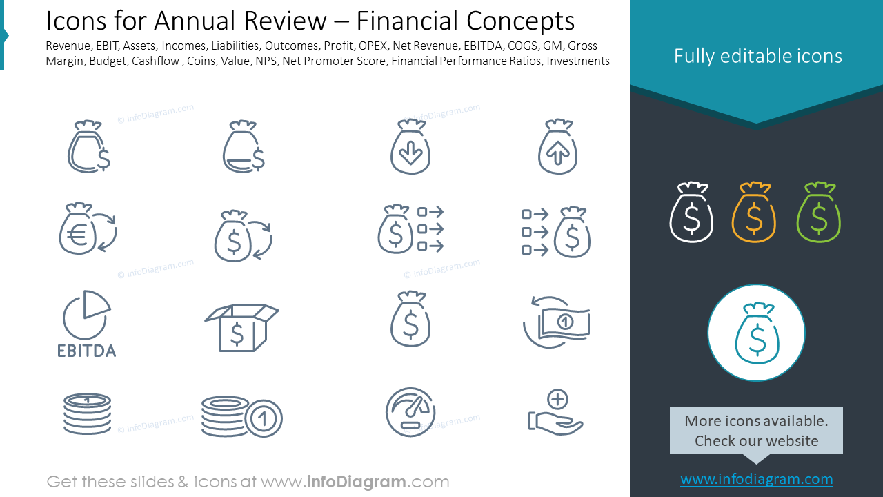 Icons for Annual Review – Financial Concepts