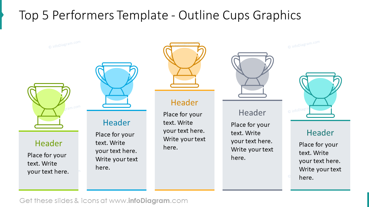 Top five performers slide template