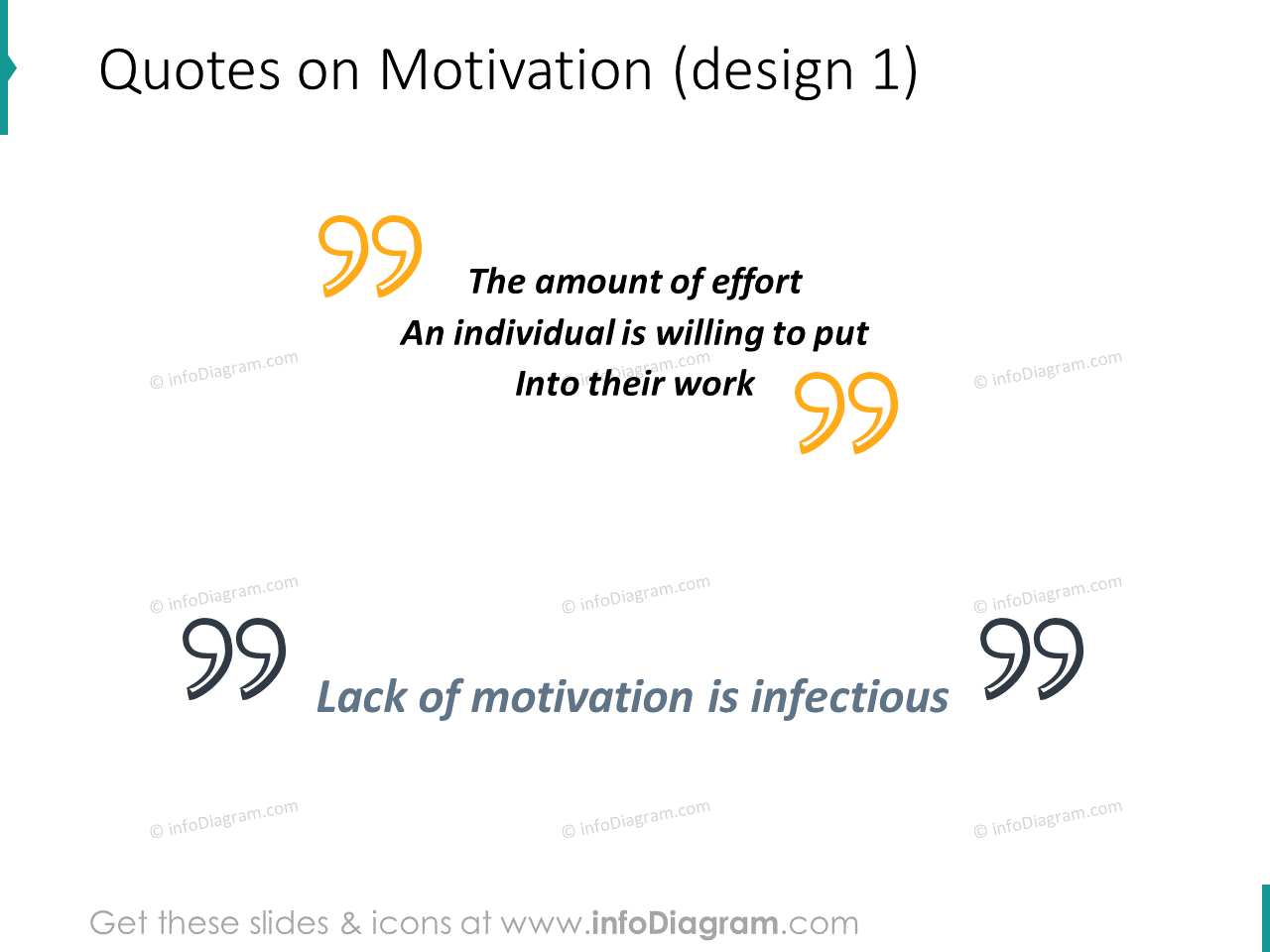 motivation quote quotation marks icons ppt clipart