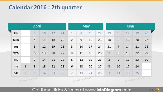 Quarter school calendar 2016 slide