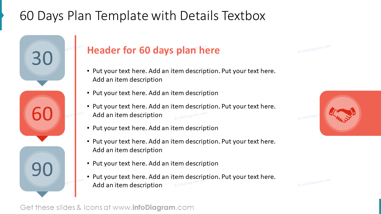 60 Days Plan Template with Details Textbox