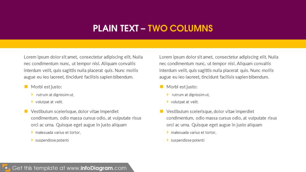 Double column slide