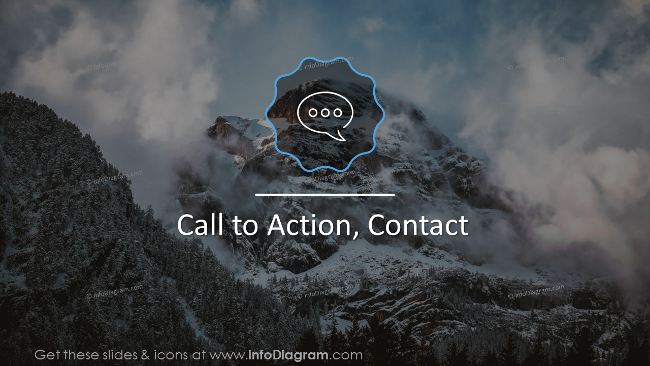 Call to action section slide on a picture background