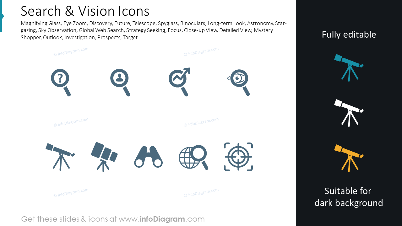 Search & Vision Icons
