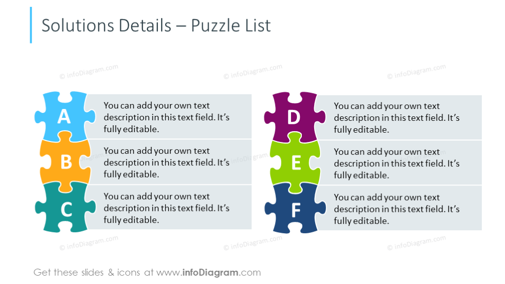 60 webinar presentation graphics problem solution ppt template deck puzzle list diagram for showing solution details ccuart Images