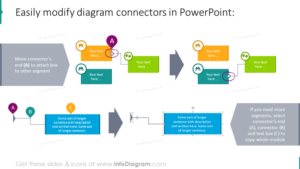 Example of modifying diagram connectors
