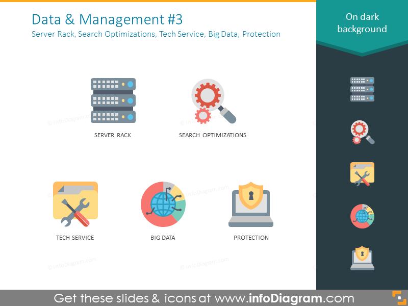 Server Rack, Search Optimizations, Tech Service, Big Data, Protection