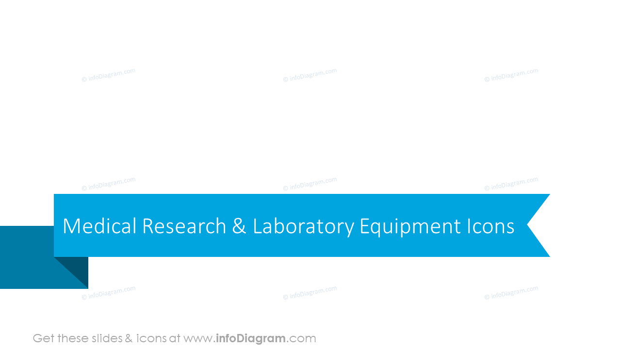 Medical research and laboratory equipment icons