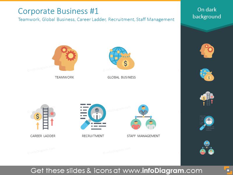 Teamwork, Global Business, Career Ladder, Recruitment, Staff Management