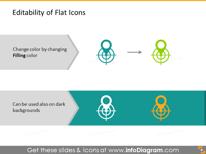 Example of editability of flat Icons
