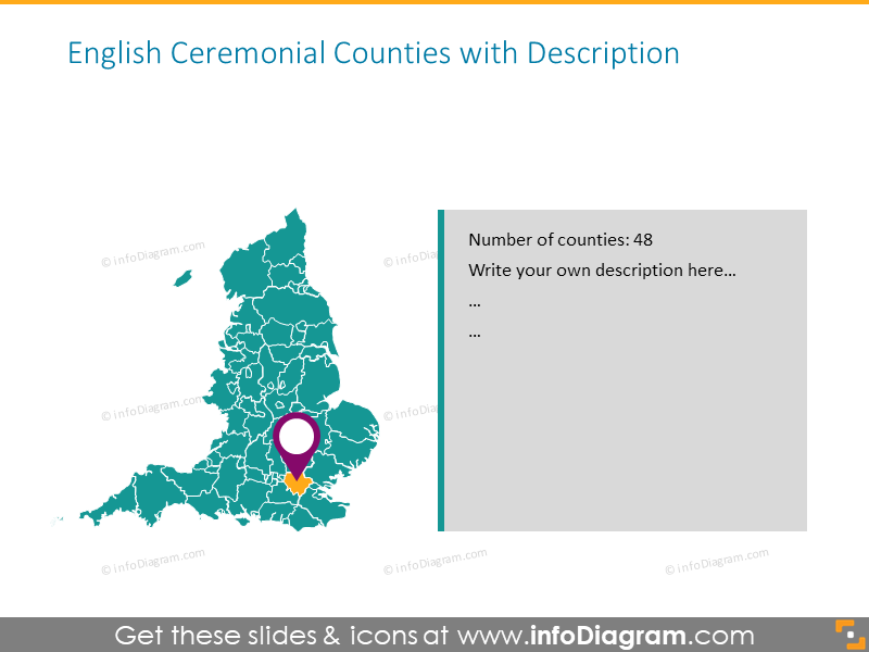 Map Of Uk For Powerpoint.British Isles Maps Of Uk Counties Ireland Ppt Editable Administrative Regions