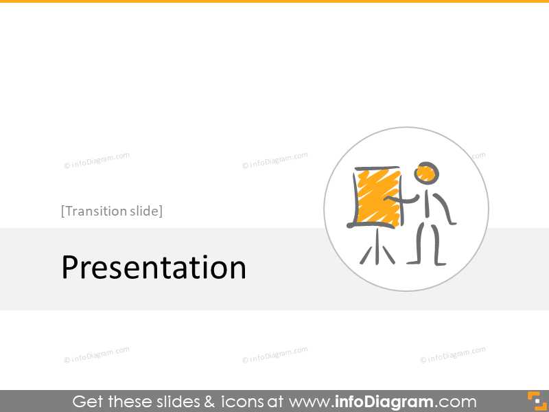 presenting transition slide section scribble icons powerpoint
