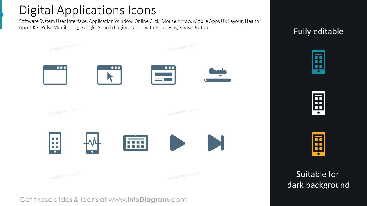 Digital Applications Icons