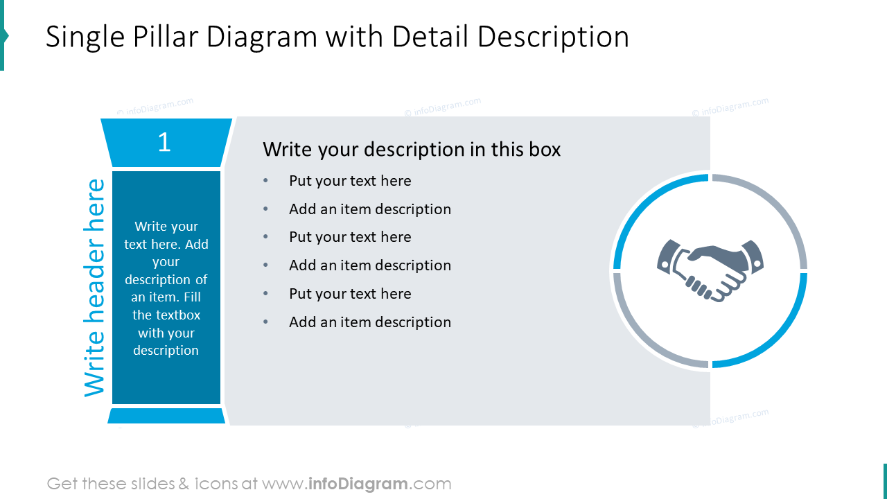 Single pillar diagram with detailed description
