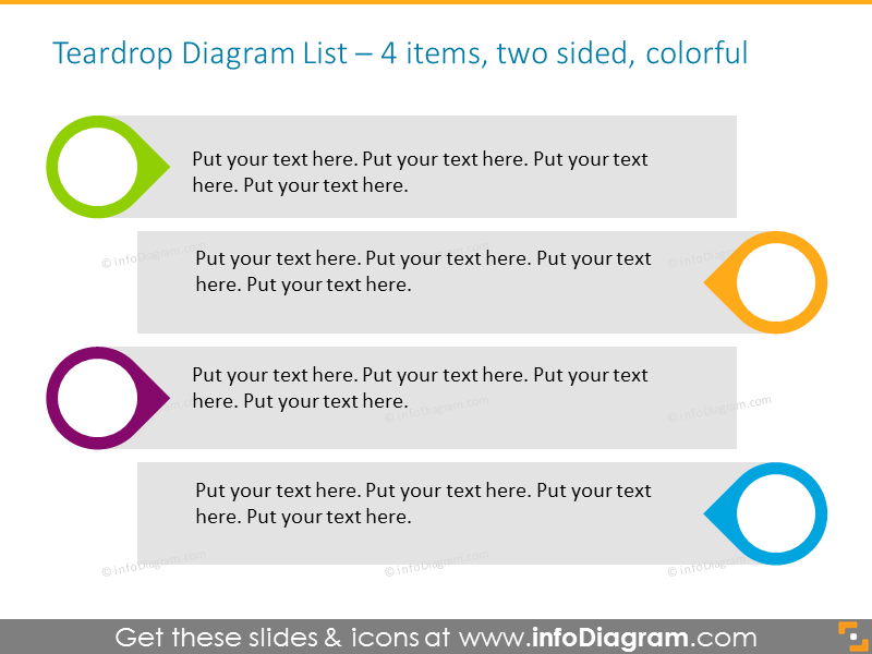 EditableInfographicTemplate for agenda with textboxes for  4 items, two-…