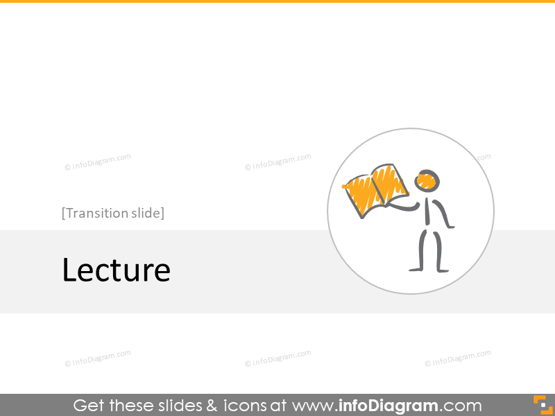 lecture reading transition slide section scribble icons powerpoint