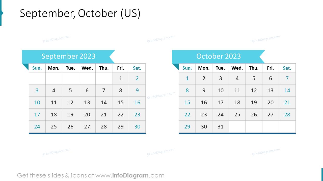 September October 2022 US Calendar