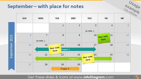 September 2015 notes slide powerpoint project timeline