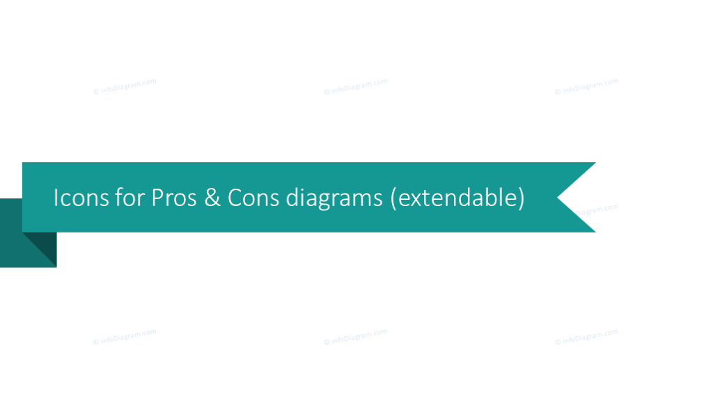 Icons for pros and cons diagram