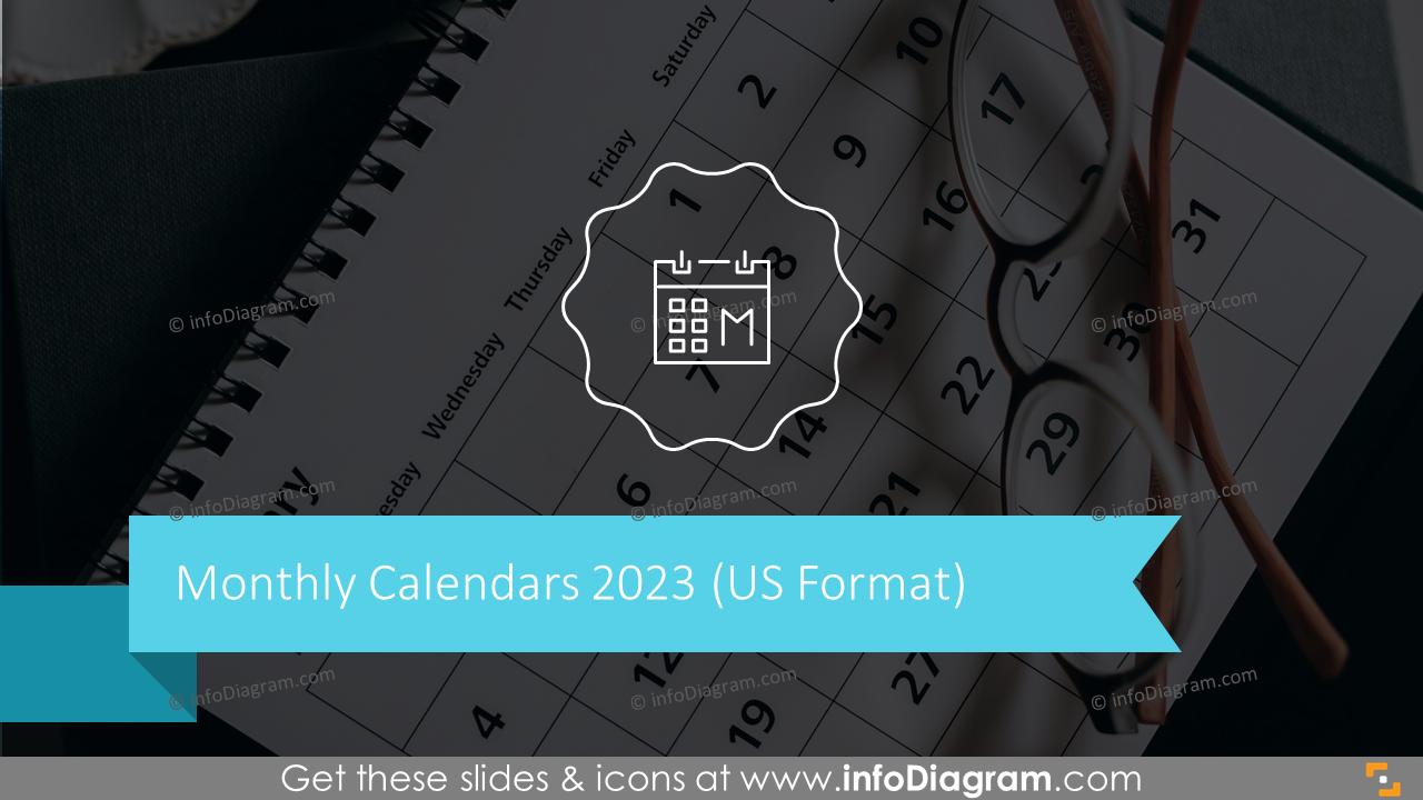 Monthly Calendars US