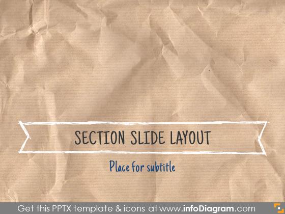 section slide transition design retro doodle banner
