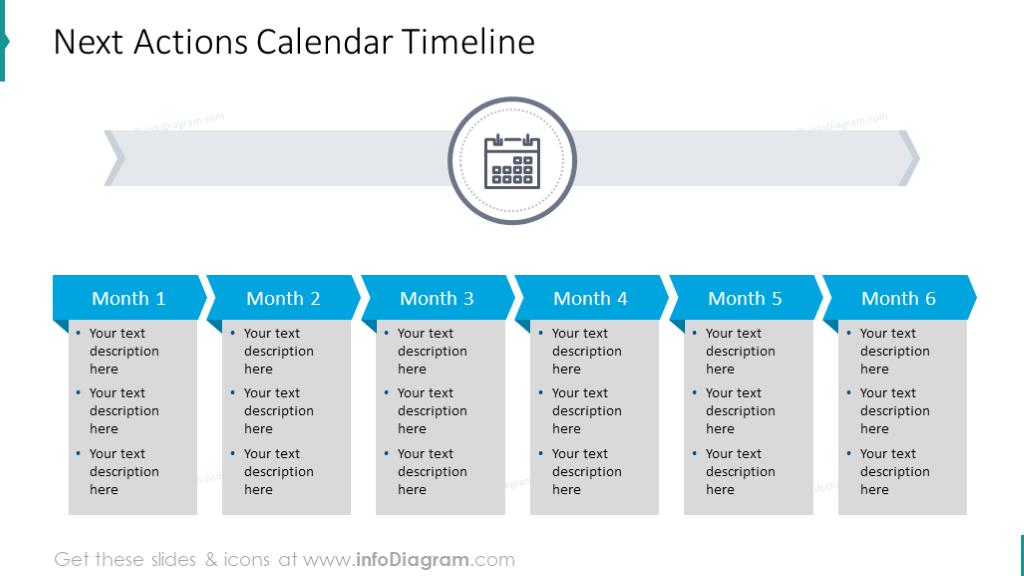 Next action calendar timeline
