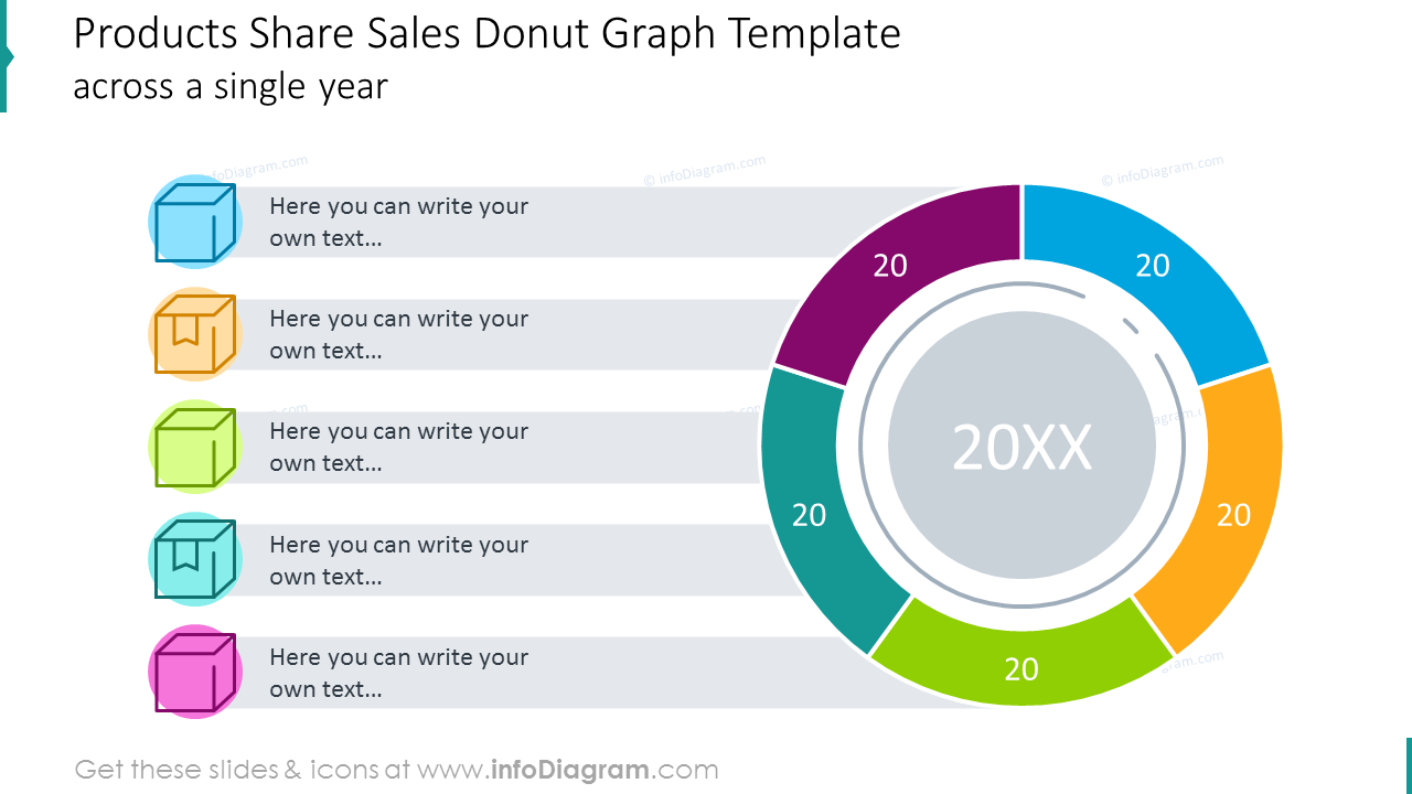 creative charts  product sales report annual review data graph templates  powerpoint
