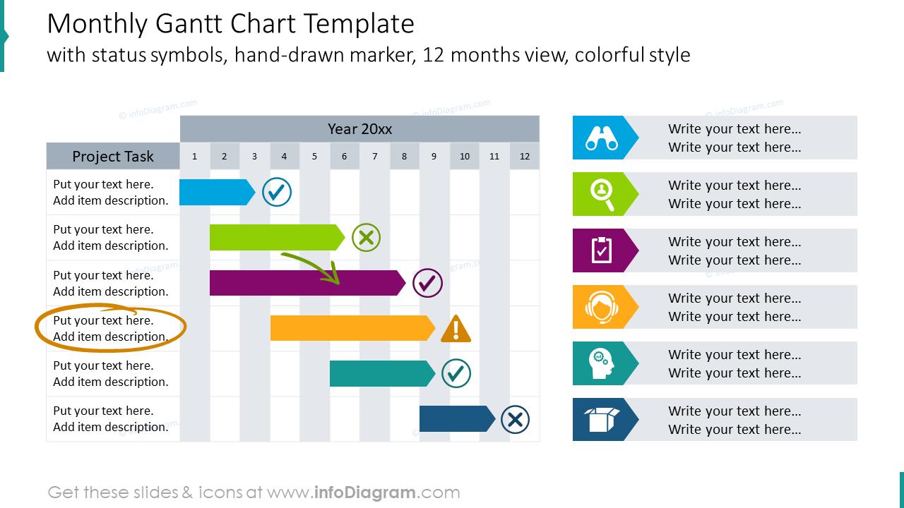 Monthly gantt chart template