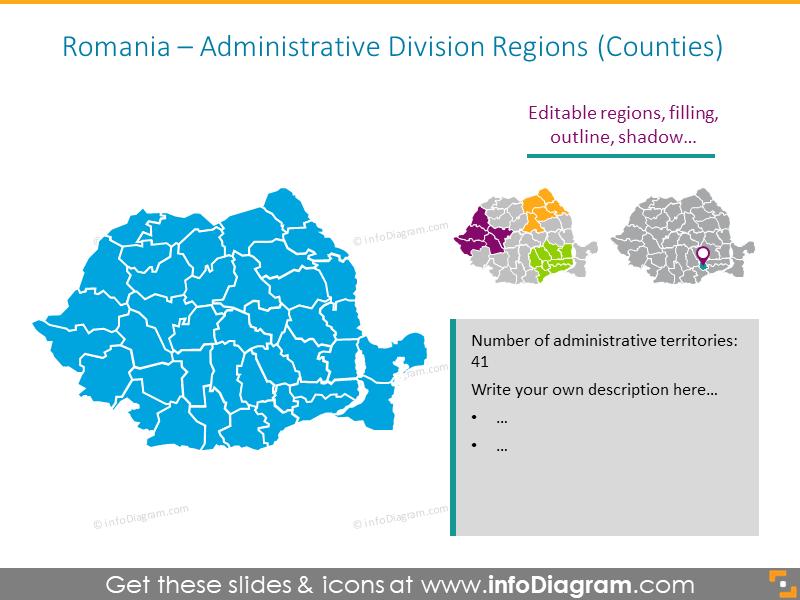 Romania Administrative Division Regions