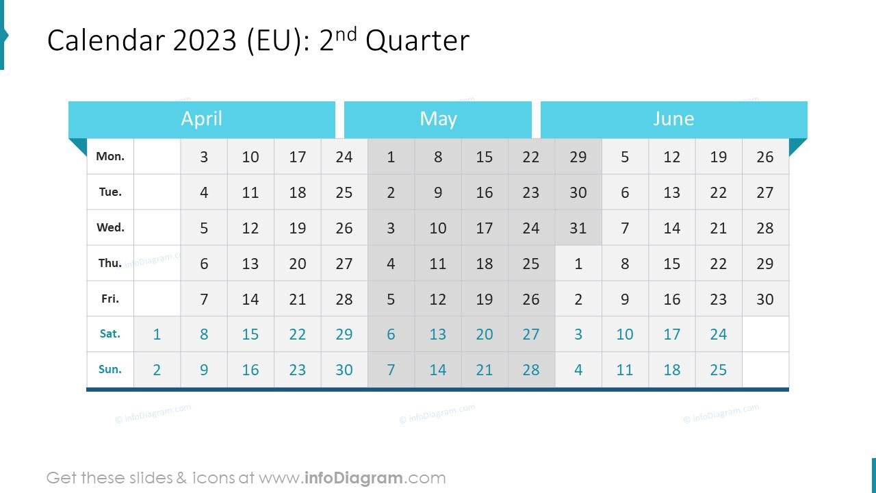 3rd Quarter 2022 EU Calendars