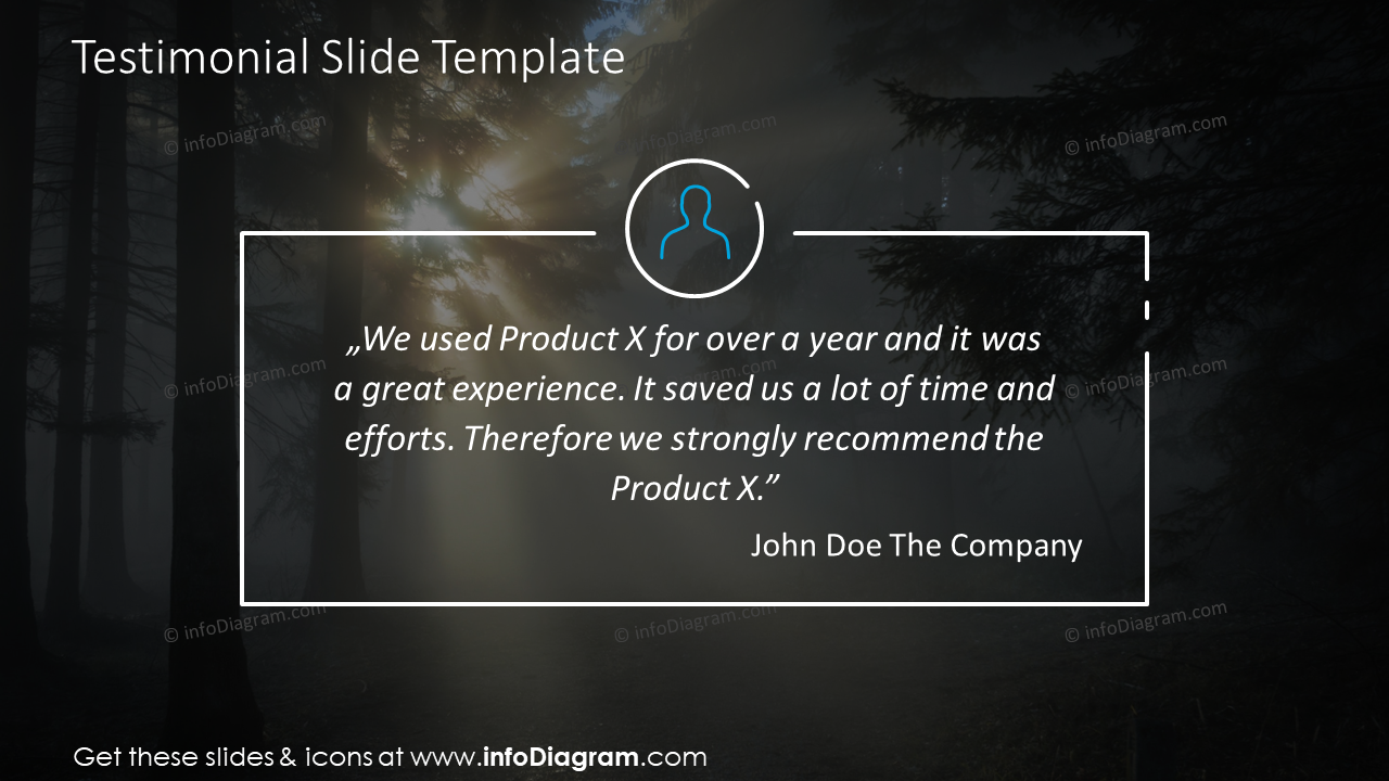 Testimonial infographics in outline style