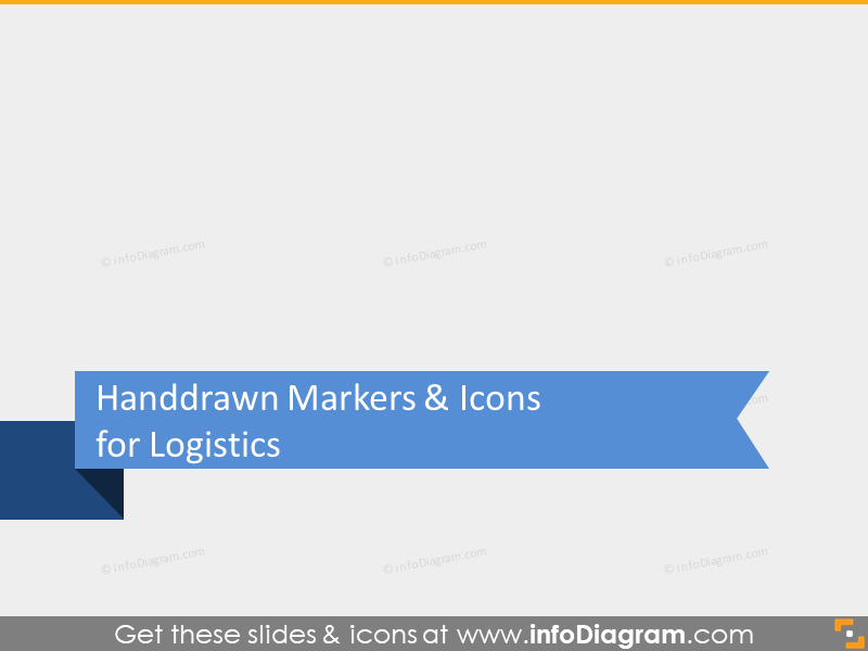 handdrawn scribble logistics marker icons powerpoint