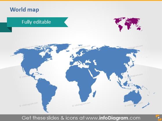 World Map Editable Vector Clipart PowerPoint