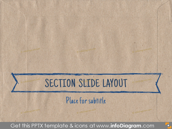 transitional slide layout section ecopaper brown pptx