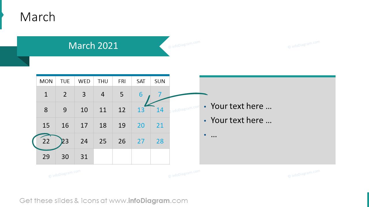 March 2020 EU Calendars