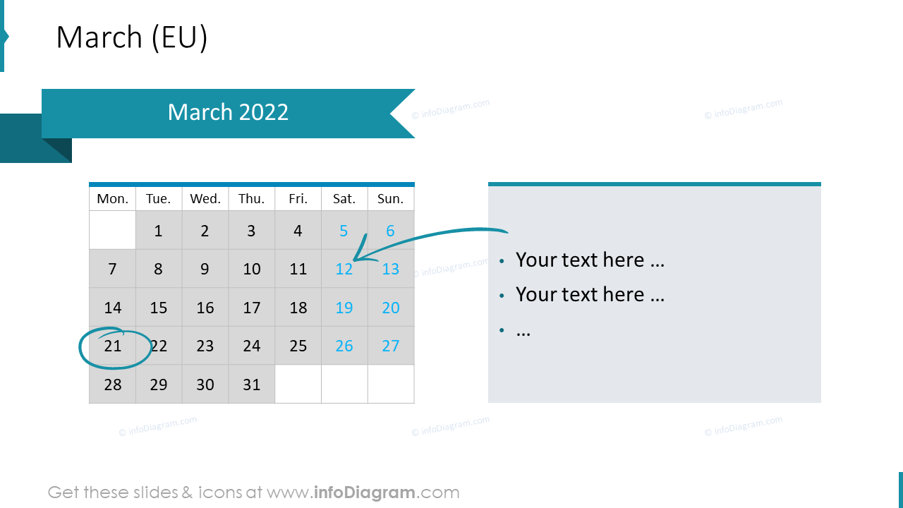 March 2022 EU Calendars