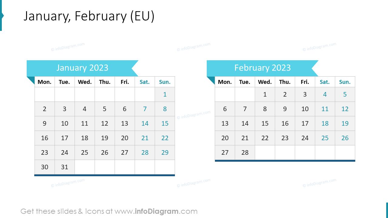 March April 2022 EU Calendar